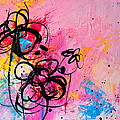 Abstract Flowers In Hot Pink 1 by Patricia Awapara