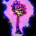 Abstract Glowball Tree by Pixel Chimp