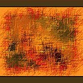 Abstract Golden Earthones With Quad Border by L Brown