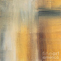 Abstract Golden Yellow Gray Contemporary Trendy Painting Fluid Gold Abstract II By Madart Studios by Megan Duncanson