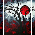 Abstract Gothic Art Original Landscape Painting Imagine By Madart by Megan Duncanson