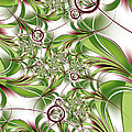Abstract Green Plant by Gabiw Art
