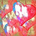 Abstract Hearts 16 by Edward Fielding