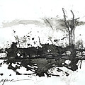 Modern Abstract Black Ink Art by Patricia Awapara