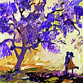 Abstract Jacaranda Tree Lovers by Ginette Callaway