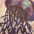 Abstract Jellyfish In Ink by Noah Babcock