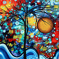 Abstract Landscap Art Original Circle Of Life Painting Sweet Serenity By Madart by Megan Duncanson