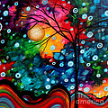 Abstract Landscape Colorful Contemporary Painting By Megan Duncanson Brilliance In The Sky by Megan Duncanson