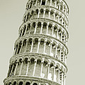 Abstract Leaning Tower Of Pisa by Gurgen Bakhshetsyan