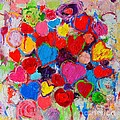 Abstract Love Bouquet Of Colorful Hearts And Flowers by Ana Maria Edulescu