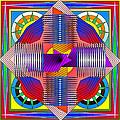 Abstract Mandala by Mario Carini