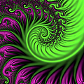 Abstract Neon Colors Fractal by Gabiw Art