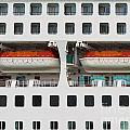 Abstract Of Lifeboats On A Large Cruise Ship by Stephan Pietzko