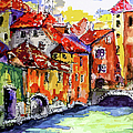Abstract Old Houses In Annecy France by Ginette Callaway