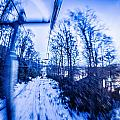 Abstract On A Ski Lift by Alex Grichenko