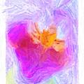 Abstract Orchid Pastel by Antony McAulay