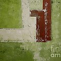 Abstract Painting Green 13013 by Voros Edit