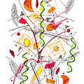 Abstract Pen Drawing Fifty-five by Lynne Taetzsch