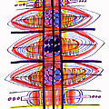Abstract Pen Drawing Fifty by Lynne Taetzsch