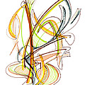 Abstract Pen Drawing Fifty-nine by Lynne Taetzsch