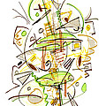 Abstract Pen Drawing Fifty-seven by Lynne Taetzsch