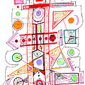 Abstract Pen Drawing Fifty-two by Lynne Taetzsch