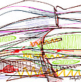 Abstract Pen Drawing Forty-five by Lynne Taetzsch