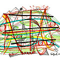 Abstract Pen Drawing Forty-seven by Lynne Taetzsch