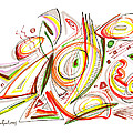 Abstract Pen Drawing Forty-six by Lynne Taetzsch