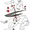 Abstract Pen Drawing Seventy-eight by Lynne Taetzsch