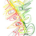 Abstract Pen Drawing Seventy-one by Lynne Taetzsch
