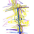Abstract Pen Drawing Seventy-two by Lynne Taetzsch