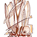 Abstract Pen Drawing Sixty-four by Lynne Taetzsch