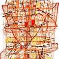 Abstract Pen Drawing Sixty-one by Lynne Taetzsch