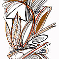 Abstract Pen Drawing Sixty-six by Lynne Taetzsch