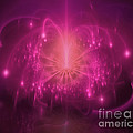 Abstract Pink Fireworks Fractal by Elle Arden Walby