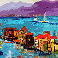 Abstract Portovenere Italy Part Two by Ginette Callaway