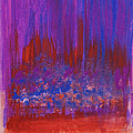 Abstract Purple And City Lights by Anne Cameron Cutri