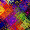 Abstract - Rainbow Infusion - Square by Andee Design