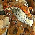 Abstract Rattlesnake by John Malone