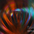 Abstract Red And Green Blur by Marvin Spates
