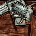 Tommervik Cubism Hand Gun Art by Tommmervik
