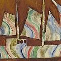 Abstract Sailboat by Katie Sasser