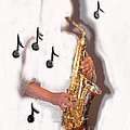 Abstract Saxophone Player by Tom Conway