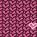 Abstract Seamless Heart Pattern by Ann Volosevich