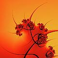 Abstract Sunset Fractal by Gabiw Art
