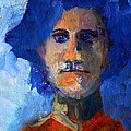 Abstract Thinking Man Portrait by Nancy Merkle