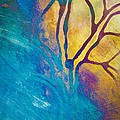 Fire And Ice Abstract Tree Art  by Priya Ghose