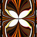 Abstract Triptych - Brown - Orange by Barbara Griffin