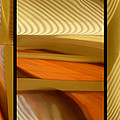 Abstract Triptych - Omaha Library Building by Nikolyn McDonald